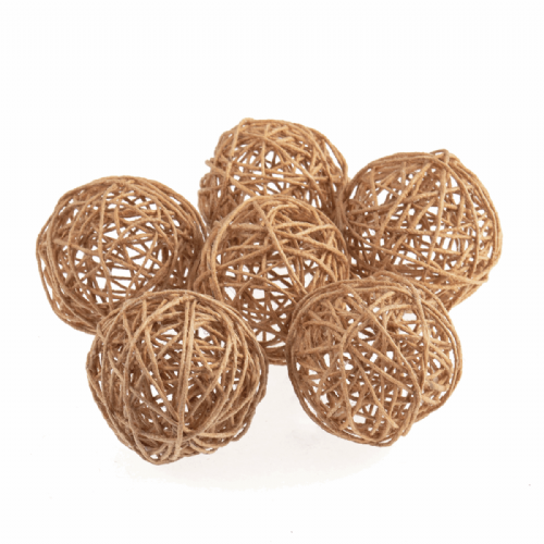 Woven Jute Balls Small 45mm 6 Pieces